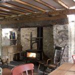 cosy lit fireplace